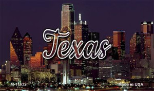 Texas City Lights Wholesale Novelty Metal Magnet M-11632