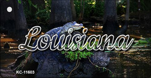 Louisiana Alligator Swamp Wholesale Key Chain KC-11603