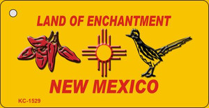 Red Chili and Road Runner Yellow New Mexico Novelty Wholesale Key Chain