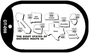 RT 66 Historic Eight Novelty Wholesale Dog Tag Necklace DT-098