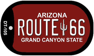RT 66 Grand Canyon Red and White Wholesale Dog Tag Necklace DT-105