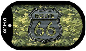 RT 66 Camo Novelty Wholesale Dog Tag Necklace DT-1303