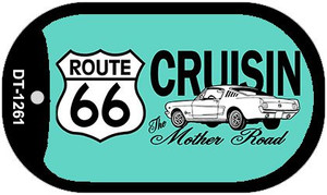 RT 66 Cruisin Mustang Novelty Wholesale Dog Tag Necklace DT-1261
