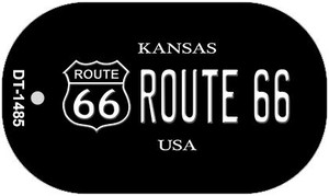 Route 66 Kansas Novelty Wholesale Dog Tag Necklace DT-1485
