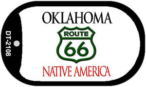 RT 66 Oklahoma State License Plate Novelty Wholesale Dog Tag Necklace DT-2108