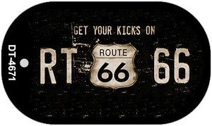 Route 66 Get Your Kicks Novelty Wholesale Dog Tag Necklace DT-4671