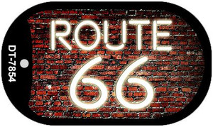 Route 66 Neon Brick Novelty Wholesale Dog Tag Necklace DT-7854