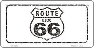 RT 66 Distressed Novelty Wholesale Bicycle License Plate BP-1252