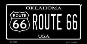 Route 66 Oklahoma Novelty Wholesale Bicycle License Plate BP-1487