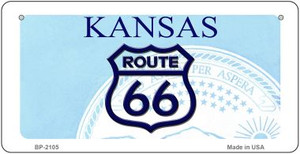 RT 66 Kansas State License Plate Novelty Wholesale Bicycle License Plate BP-2105