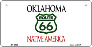 RT 66 Oklahoma State License Plate Novelty Wholesale Bicycle License Plate BP-2108