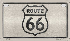 RT 66 Shield White Novelty Wholesale Motorcycle License Plate MP-097