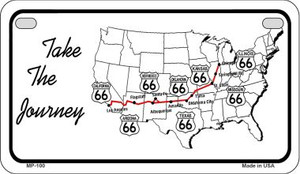 RT 66 Take the Journey Novelty Wholesale Motorcycle License Plate MP-100