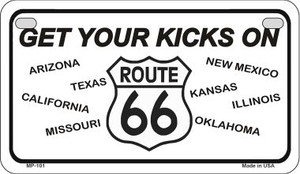 RT 66 Eight States Novelty Wholesale Motorcycle License Plate MP-C9