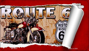 RT 66 Scroll Novelty Wholesale Motorcycle License Plate MP-9007