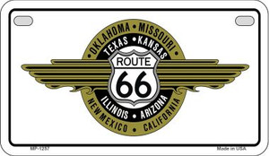 RT 66 Badge Novelty Wholesale Motorcycle License Plate MP-1257