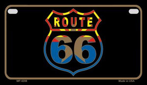 Arizona Flag Shield Route 66 Novelty Wholesale Motorcycle License Plate MP-4208