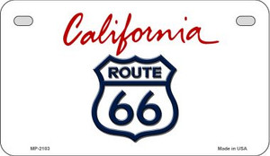 RT 66 California State License Plate Wholesale Motorcycle License Plate MP-2103