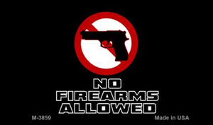 No Firearms Allowed Novelty Wholesale Magnet M-3859
