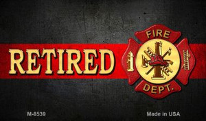 Retired Fire Novelty Wholesale Magnet M-8539