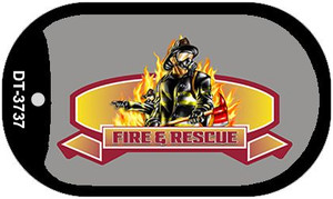 Fire Rescue Novelty Wholesale Dog Tag Necklace DT-3737