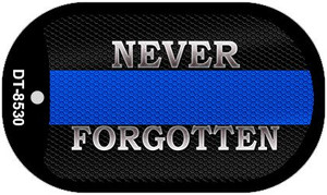 Never Forgotten Police Novelty Wholesale Dog Tag Necklace DT-8530