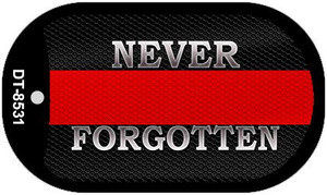 Never Forgotten Fire Novelty Wholesale Dog Tag Necklace DT-8531