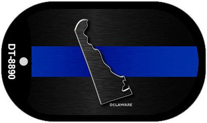Delaware Thin Blue Line Novelty Wholesale Dog Tag Necklace DT-8890
