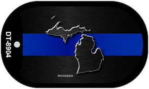 Michigan Thin Blue Line Novelty Wholesale Dog Tag Necklace DT-8904