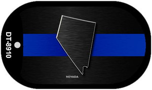 Nevada Thin Blue Line Novelty Wholesale Dog Tag Necklace DT-8910