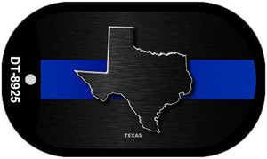 Texas Thin Blue Line Novelty Wholesale Dog Tag Necklace DT-8925