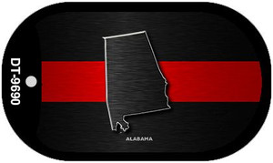 Alabama Thin Red Line Novelty Wholesale Dog Tag Necklace DT-9690