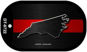 North Carolina Thin Red Line Novelty Wholesale Dog Tag Necklace DT-9722