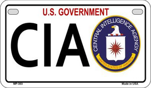 CIA Novelty Wholesale Motorcycle License Plate MP-303