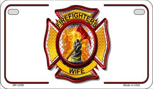 Firefighters Wife Novelty Wholesale Motorcycle License Plate MP-2359