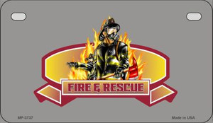Fire Rescue Novelty Wholesale Motorcycle License Plate MP-3737