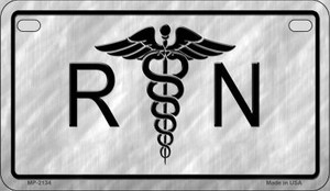 RN Logo Novelty Wholesale Motorcycle License Plate MP-2134