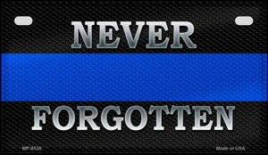 Never Forgotten Police Novelty Wholesale Motorcycle License Plate MP-8530