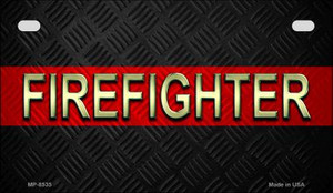 Firefighter Novelty Wholesale Motorcycle License Plate MP-8535