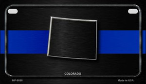 Colorado Thin Blue Line Novelty Wholesale Motorcycle License Plate MP-8888