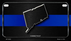 Connecticut Thin Blue Line Novelty Wholesale Motorcycle License Plate MP-8889