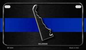 Delaware Thin Blue Line Novelty Wholesale Motorcycle License Plate MP-8890