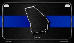 Georgia Thin Blue Line Novelty Wholesale Motorcycle License Plate MP-8892