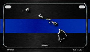 Hawaii Thin Blue Line Novelty Wholesale Motorcycle License Plate MP-8893