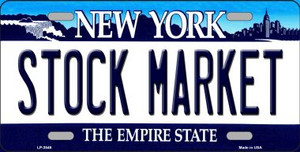 Stock Market New York Novelty Wholesale Metal License Plate