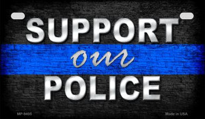 Support Police Novelty Wholesale Motorcycle License Plate MP-9405