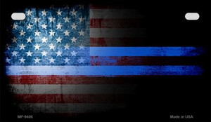 American Flag Police Novelty Wholesale Motorcycle License Plate MP-9406