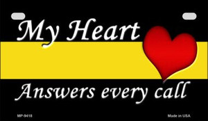 My Heart Dispatchers Novelty Wholesale Motorcycle License Plate MP-9418