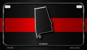 Alabama Thin Red Line Novelty Wholesale Motorcycle License Plate MP-9690