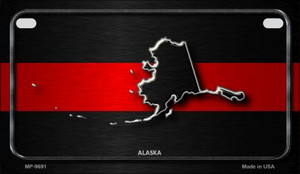 Alaska Thin Red Line Novelty Wholesale Motorcycle License Plate MP-9691